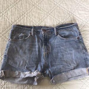Vintage Levi's denim cut off shorts